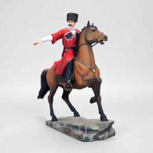 Кубанский казак на гнедном коне, полноцвет (ручная роспись) 54170