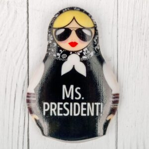 """Магнит в форме матрешки """"Ms. President"""" 48476"""