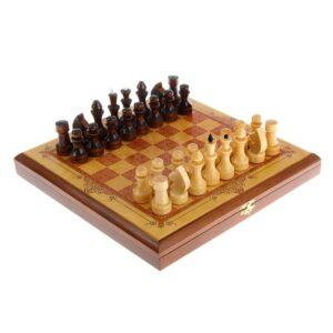 "Шахматы малые ""Золотистая  классика"" 45071"