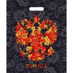 """Пакет """"Russia"""", полиэтиленовый 42 х 48 см, 90 мкм 51933"""