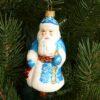 Игрушка на ёлку Дед Мороз расписной (стекло) 51033 63094