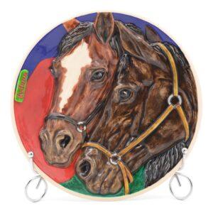 Тарелка Лошади Кубань 49082