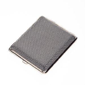 Портсигар S.Quire, сталь+искусственная кожа, черно-серебристый узор 56441