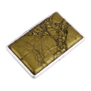 Портсигар S.Quire, сталь+искусственная кожа, зелёный цвет с рисунком 56442