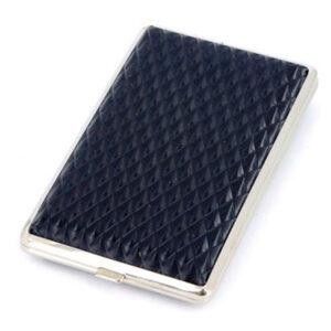 Портсигар S.Quire, сталь+искусственная кожа, черный цвет с рисунком 56434
