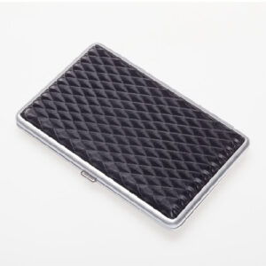Портсигар S.Quire, сталь+искусственная кожа, черный цвет с рисунком 56432