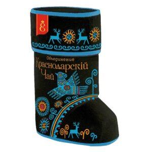 Подарочный набор «Валенок Узоры северных народов» с черным крупнолистовым чаем 70г 51682