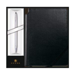 Набор: Ручка шариковая Cross Classic Century Chrome и Записная книжка Cross Journal Classic Black, A