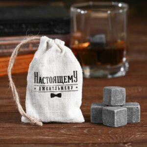 """Камни для виски """"Настоящему джентльмену"""", 4 шт. 48509"""
