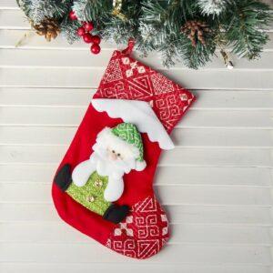 """Носок для подарков """"Снежный дом"""", дед мороз 53897"""