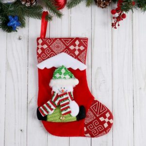 """Носок для подарков """"Снежный дом"""" снеговик 51512"""