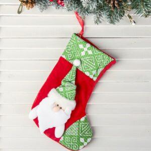 """Носок для подарка """"Уют"""" дед мороз 47501"""