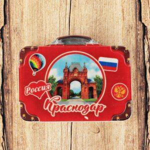 Магнит в форме чемодана «Краснодар. Триумфальная Арка» 46426