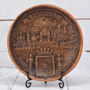 Тарелка Краснодар коллаж (ручная работа) 53604