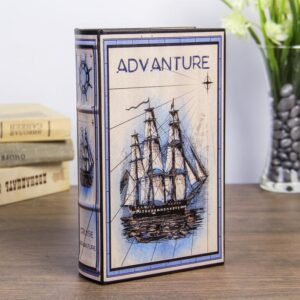 "Сейф-книга дерево ""Морское приключение"" кожзам 55240"