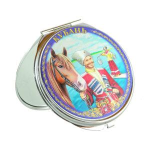 Зеркало Кубань Казак с конем (металл) 20731