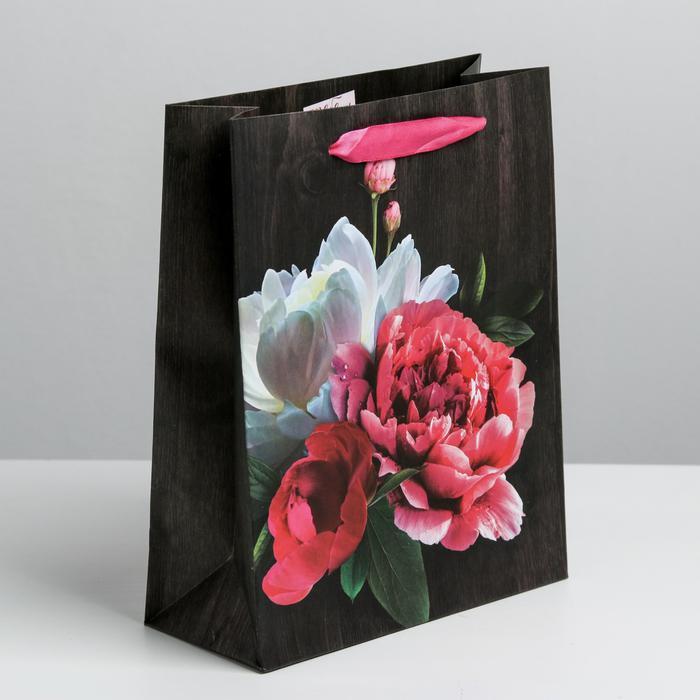 Пакет «Цветы любви», M 26 × 30 × 9 см 55990