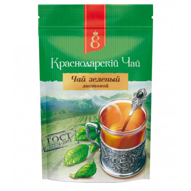 """Чай зеленый """"Краснодарскiй чай"""" листовой 90 г. 52789"""