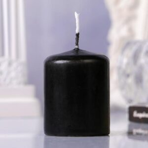 Свеча пеньковая, 4х5см, чёрная 48542