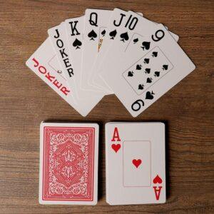 """Игральные карты """"Lewis & Wolf"""" для покера, 54 шт. в колоде, красная рубашка 55583"""