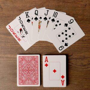 """Игральные карты """"Golem"""" для покера, 54 шт. в колоде, красная рубашка 55586"""
