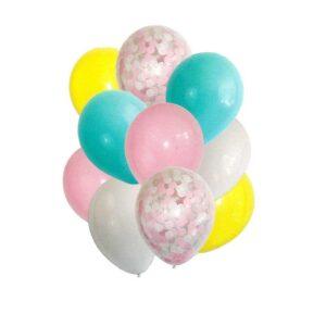 Букет из шаров «Первая любовь», латекс, с конфетти, набор 10 шт. (без гелия) 54490