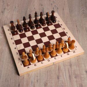 Шахматы гроссмейстерские, фигуры дерево 49613