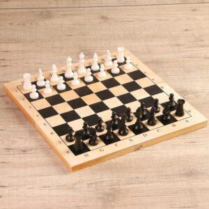 """Настольная игра 3 в 1 """"Орнамент"""": шахматы, шашки, нарды (доска дерево 42х42 см) 57159"""