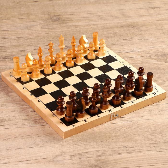 """Настольная игра 3 в 1 """"Орнамент"""": шахматы, шашки, нарды (доска 29 × 29 см, дерево) 57158"""