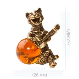 Кот с гитарой (янтарь) 39943