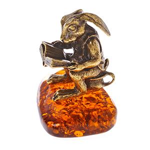 Кролик с книгой (янтарь) 39955