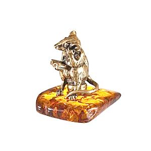 Крыс на горшке (янтарь) 39958