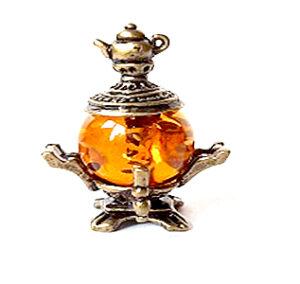 Самовар с чайничком (янтарь) 40055
