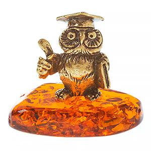 Сова магистр (янтарь) 40060