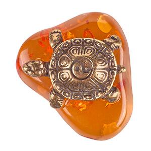 Черепаха Инь Янь (янтарь) 39820
