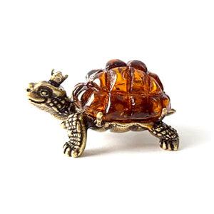 Черепаха Тортилла (янтарь) 40075