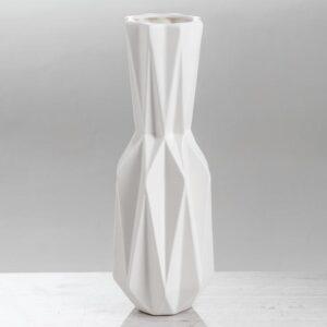 """Ваза настольная """"Оригами"""", белая, 31 см 54765"""
