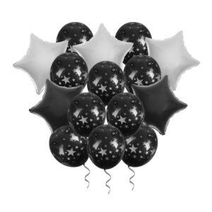 Букет из шаров «Ночь» фольга , латекс, лента, набор 15 шт. (без гелия) 54492