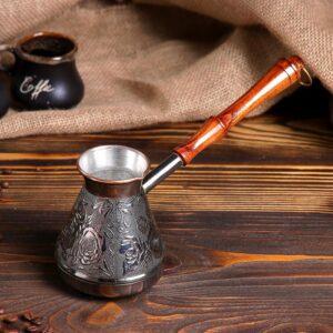 Турка для кофе медная «Роза», 0,4 л 49624