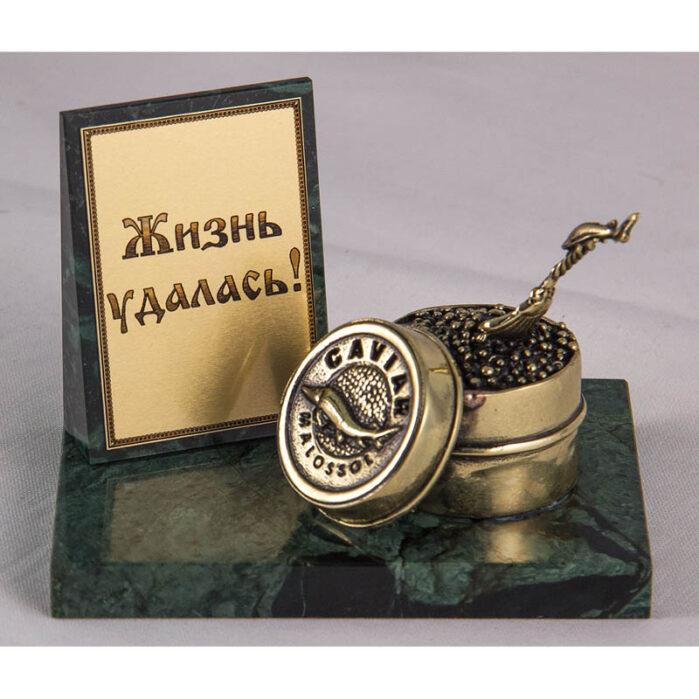 "Фигурка на камне ""Банка с икрой"" 57004"
