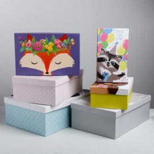 Подарочная коробка «Милые зверята» 55752