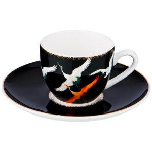 """Кофейный набор на 1 персону """"Motion"""" 2 предмета 90 мл черный 55528"""