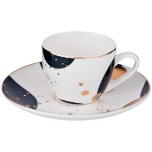 """Кофейный набор на 1 персону """"Motion"""" 2 предмета 90 мл синий 55529"""
