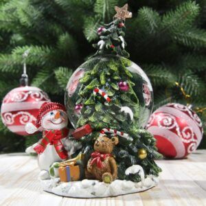 "Снежный шар ""Снеговик и подарки у ёлочки"" 53905"