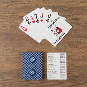 """Игральные карты """"PokerGo"""" для покера, 54 шт. в колоде, синяя рубашка 55593"""