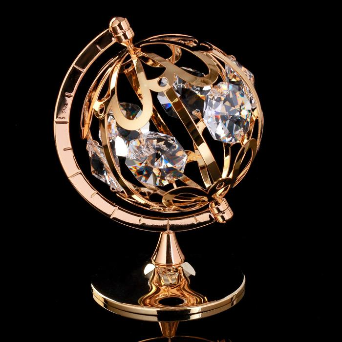 """Сувенир с кристаллами Swarovski """"Глобус"""" 9,3х6,7 см 57222"""