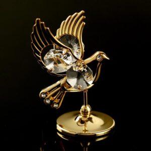 """Сувенир с кристаллами Swarovski """"Голубь"""" 56601"""