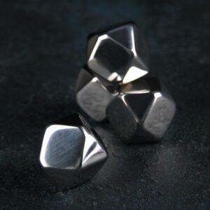 Набор камней для виски 2×2 см, нержавеющая сталь, 4 шт 54881