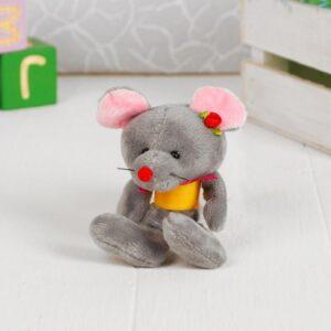 """Мягкая игрушка-присоска """"Мышка на пружинке"""" цвет МИКС 50872"""