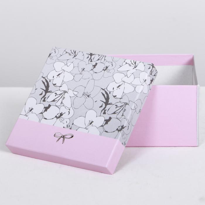 Коробка квадратная «Нежные узоры» 55757